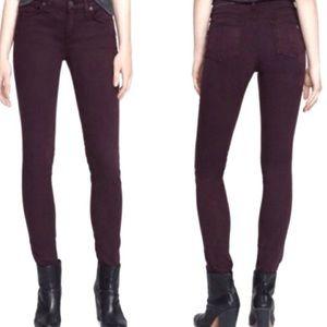 Rag & Bone Wine Skinny Jeans Sz 27